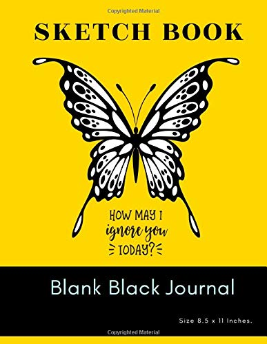 Sketch Book Blank Black Journal: Unlined Paper Notebook And Sketchbook black page for Kids and Adults Drawing, Painting, Sketching, Writing and ... x 11'. Sketch Pad with gel pens (Series 73)