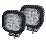 AUTOJARE Foco de trabajo LED de 48 W, 4 ledes, 12 V/24 V, para iluminación de campo cercano y vehículos agrícolas (2 unidades)