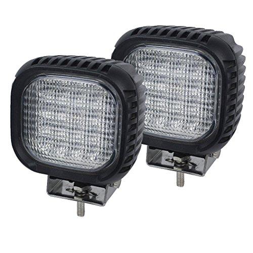 AUTOJARE 48W LED Arbeitsscheinwerfer, 4 LEDs, 12V/24V,Flutlicht für Nahfeldausleuchtung, NKW und Agrarfahrzeuge(2 Stück)