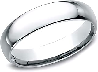 Sponsored Ad - Eros Jewelry Wedding Ring, 14K White Gold Wedding Band for Men, Light Comfort Fit 5 mm Men's Wedding Band