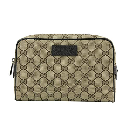 Gucci 449174 9886 - Marsupio in tela GG marrone con finiture in pelle beige/marrone