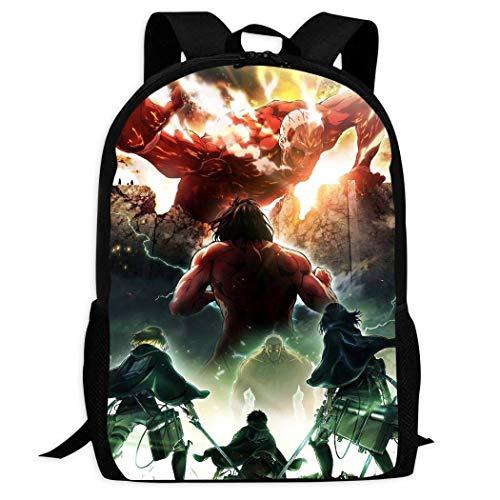 Kimi-Shop Attack-ON-Titans Poster | Mochilas Escolares cómodas y Ligeras Mochila de Bolsillos múltiples para niños/jóvenes/niños/niñas