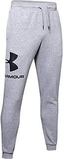 Under Armour Men's Rival Fleece Sportstyle Logo Jogger Pants, Grey (Steel Light Heather/Black), X-Large