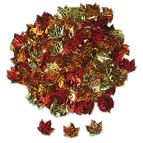 150 Stück Streudeko Herbst Blätter Ahorn Laub Herbstdeko Tischstreu Deko