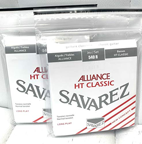 Savarez 540R Normal Tension Alliance HT Classic 2 Pack Classical Guitar Strings