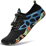 Sixspace Zapatos de Agua Zapatillas de Playa Verano Secado Rápido Calcetines Natación Calzado Surf Acuàticos Deporte Hombre Mujer, Azul 43 EU