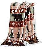 Carstens, Inc, Cascade Ridge Soft Sherpa Plush Throw Blanket, 54' x 68'