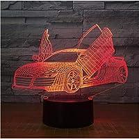 3D LED錯視ランプ インテリアライトモーターカートラクター形状USB充電タッチスイッチ7カラフルなキッズナイトライトノベルティギフト