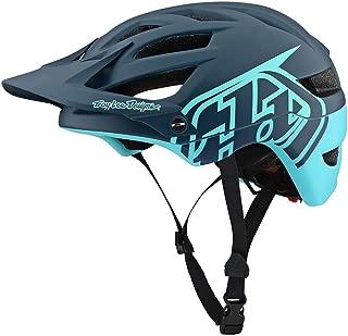 Troy Lee Designs Adult | Trail | Enduro | Half Shell A1 Classic Mountain Biking Helmet with MIPS (Medium/Large, Dark Gray/Aqua)