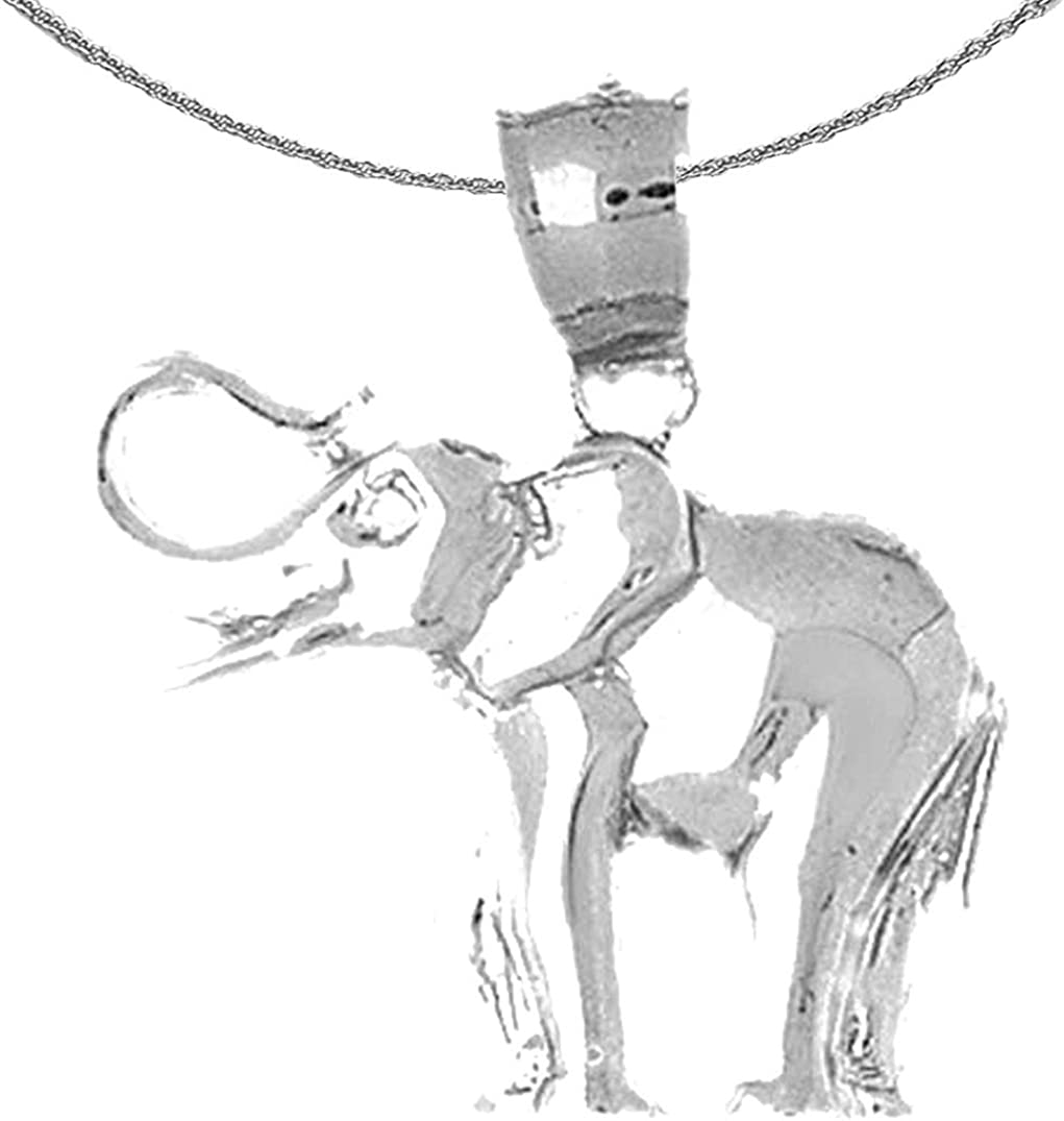 Jewels Obsession Silver Max 49% OFF Elephant Rhodium-plated S Challenge the lowest price of Japan Necklace 925