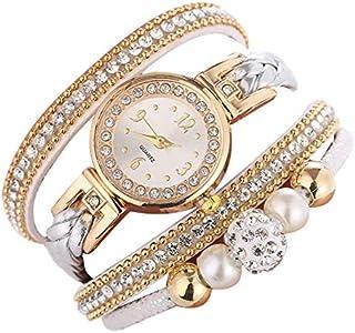 ALCENTIS - Montre Bracelet Fantaisie Filles - Finition doré Or et Argent - Cadran et Bracelet entouré de Petits Brillants...