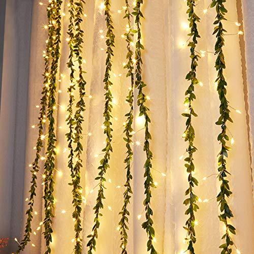 Cortina de luces de cadena, luces de hadas alimentadas por USB para pared de fiesta, dormitorio, ideal para decoración de día de San Valentín (color de guerra, 6.5 pies)