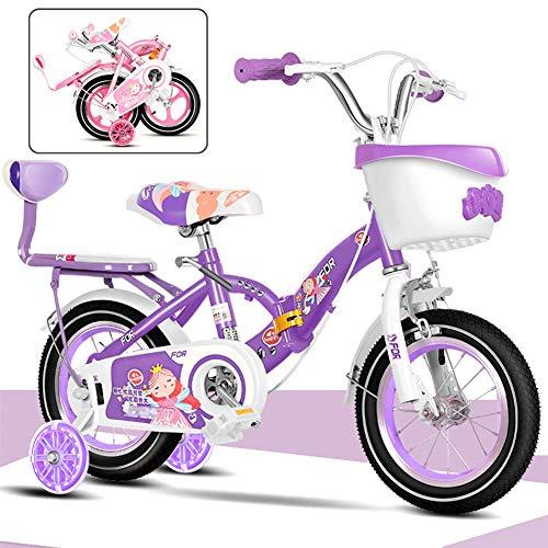 Bicicleta Infantil Plegable Little Princess, 12 Pulgadas,