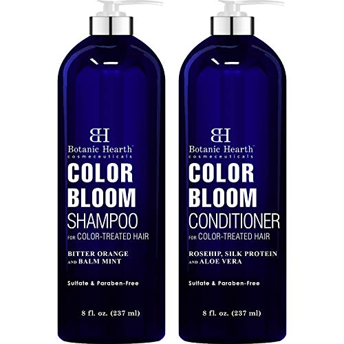 BOTANIC HEARTH Shampoo and Conditioner for Color Treated Hair - with Special Blend of Conditioning, Smoothing and Color Enhancing Ingredients - Paraben and Sulfate Free Set - 8 fl oz each