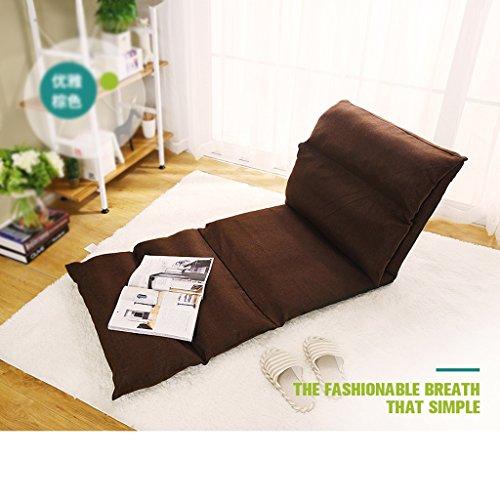 Buen sofá Pelo crujido Perezoso Plegable sofá Silla Trasera Solo Ordenador pequeño sofá Cama (Color : B)