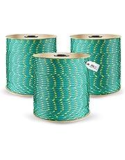 DQ-PP Cuerda de Polipropileno   Verde   Longitud 50 metros   Grosor 2 milímetros   Rollo de Soga   100% natural   multiusos   Cuerda de Amarre