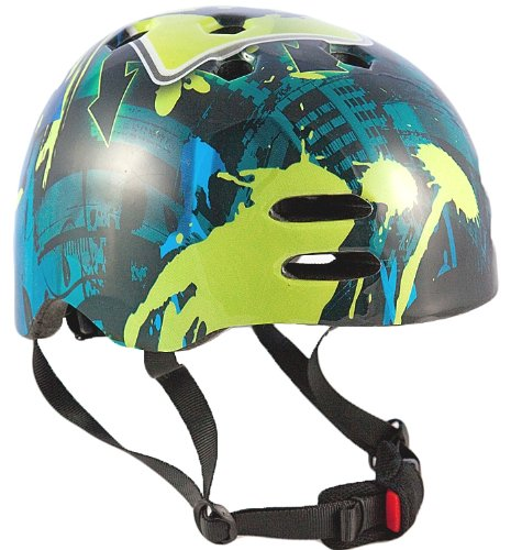 Sport Direct Boy's No - Casco para niño, tamaño 55-58, Color Azul/Verde