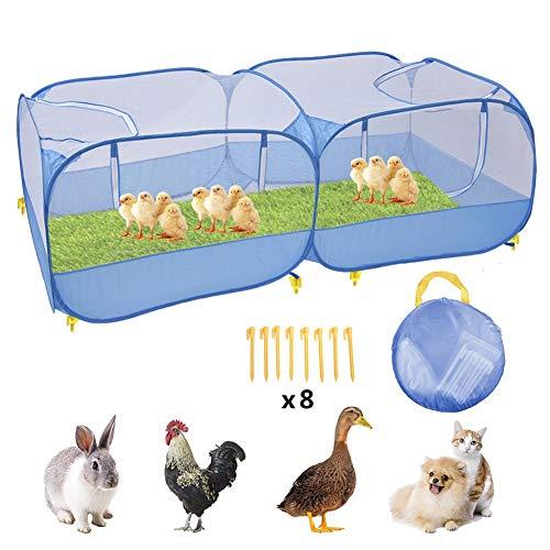 N/Y Gallinero portátil para gallinas, Gran corralito para Mascotas emergente, Valla Plegable para Mascotas para Animales pequeños Hámster Conejo Conejillo de Indias Hurón