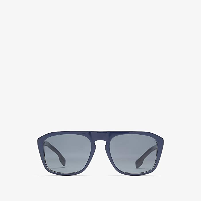 Burberry  0BE4286 (Blue Multilayer Check/Grey) Fashion Sunglasses