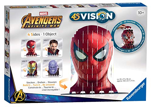 Ravensburger 4S Vision Marvel Avengers Infinity War Cats Slot Fit 3D Puzzle [Spider-Man, Dr Strange, Iron Man & Thanos]