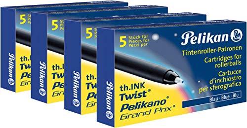 Tintenroller Patrone 4 x 5er Packung Blau