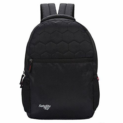 Satellite Polyester 25 Liter Blue School/Laptop Backpack with 1 Laptop Compartment Adjustable Strap (Black)