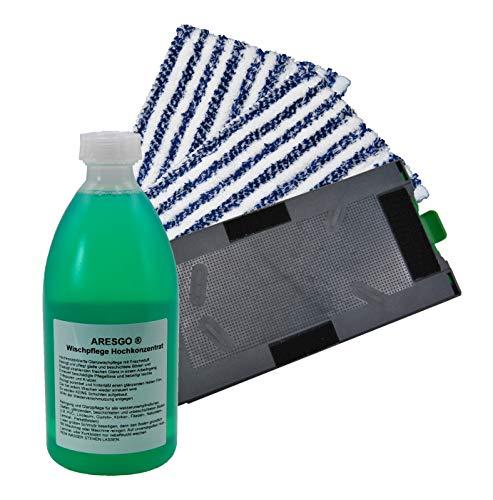 Ersatzplatte Reinigungstuchträger + zwei Reinigungstücher + Universal Reinigungskonzentrat geeignet für Ihren Vorwerk Kobold SP520 und 530 Saugwischer Nassreiniger