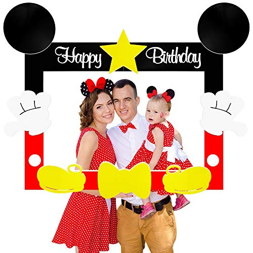 Hpscdyo Mouse Selfie Frame Picture Photo Selfie Frame, Party Fun Photo Booth Props Mouse Birthday Party Decorations for…