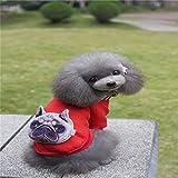 Pet Online Ropa de perro disfraces de Halloween ropa Cosplay pequeños y medianos perros Sportswear Otoño e Invierno,RED,S