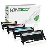 4 Kineco Toner kompatibel zu Samsung CLT-P406C für Samsung CLP-360 CLP-365 CLX-3305FN CLX-3305FW CLX-3305W Xpress C460W C460FW C410W C467W