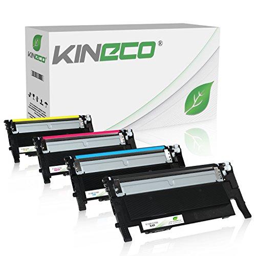 4 Kineco Toner kompatibel mit Samsung CLT-P406C für Samsung CLP-360 CLP-365 CLX-3305FN CLX-3305FW CLX-3305W Xpress C460W C460FW C410W C467W