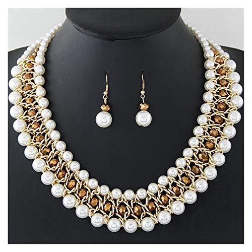 LPZW Europeo Y Americano Moda Americana Cristal DE Perla DE Perla DE Perla DE Perla DE TEMPERAMIENTO DE LADRES DE LADRES DE LADRES Anillo DE EARJE (Color : B)