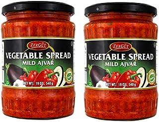 Zergut Vegetable Spread Mild Ajvar - Bulgaria - 19oz/540g - Pack of 2