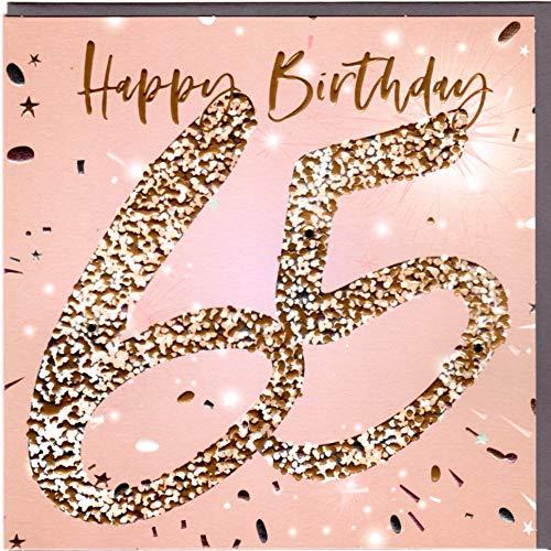 Belly Button Designs hochwertige Glückwunschkarte zum runden 65. Geburtstag.