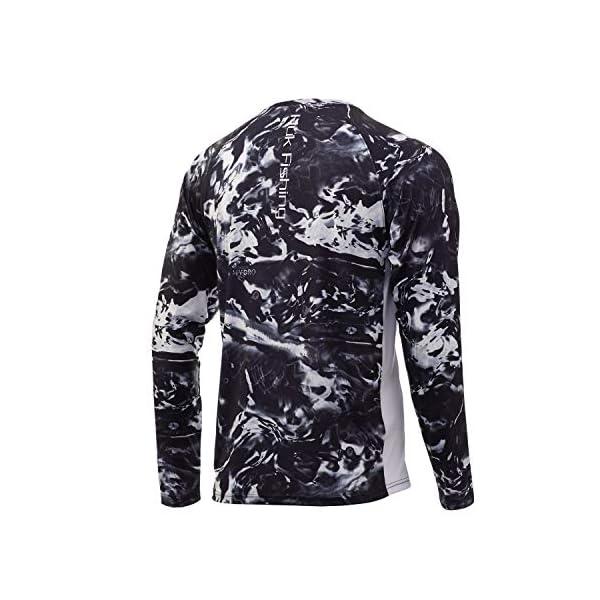 Huk Men's Mossy Oak Pursuit Long Sleeve Shirt | Camo Long Sleeve Performance Fishing Shirt With +30 UPF Sun Protection, Mossy Oak Hydro Blackwater, X-Large