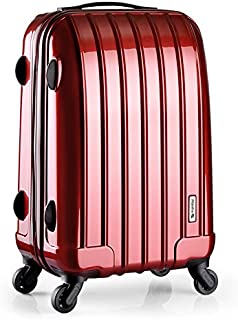 Trunk Waterproof Luggage Trolley Suitcase Two-Piece Suit Boarding High Capacity Universal Wheel Password Travel Consignment Unisex 3 Color MUMUJIN Color : Rose Gold, Size : 22 inches