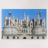 Jigsaw Puzzles 500 Pieces For Adults Large Piece Puzzle Chateau De Chambord In The Loire Valley France Wooden Intellectual Jigsaw Puzzle Fun Challenging Family Activity Game Toys Gift Wall Decoration