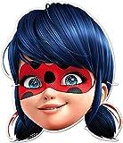 3198; Pack de 6 caretas infantiles Lady Bug; miraculous; producto de cartón