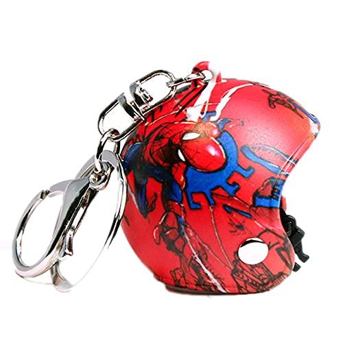 JKDFGJ Motorradhelme Schlüsselanhänger Netter Schutzhelm Zubehör Auto Schlüsselanhänger Männer Und Frauen Mode Kreative Kleine Anhänger