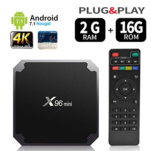 Android 9.0 RAM 2 G + 16G Rom TV Box x96 Mini amlogic s905w Quad Core, 4 K Ultra HD h.265, HDMI, Wi-Fi Media Player Smart TV box by puersit