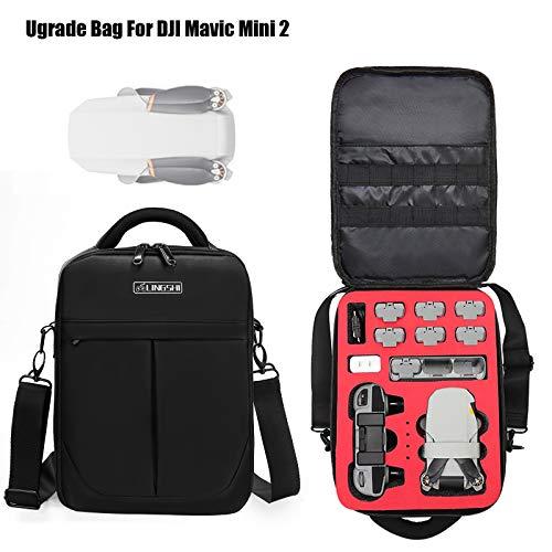 DJFEI Tragetasche für DJI Mini 2, Portable Handtasche Tasche Kompatibel mit DJI Mavic Mini 2 Drone, Passend für Fernbedienung,6 Batterien, Adapter und Zubehör (A)