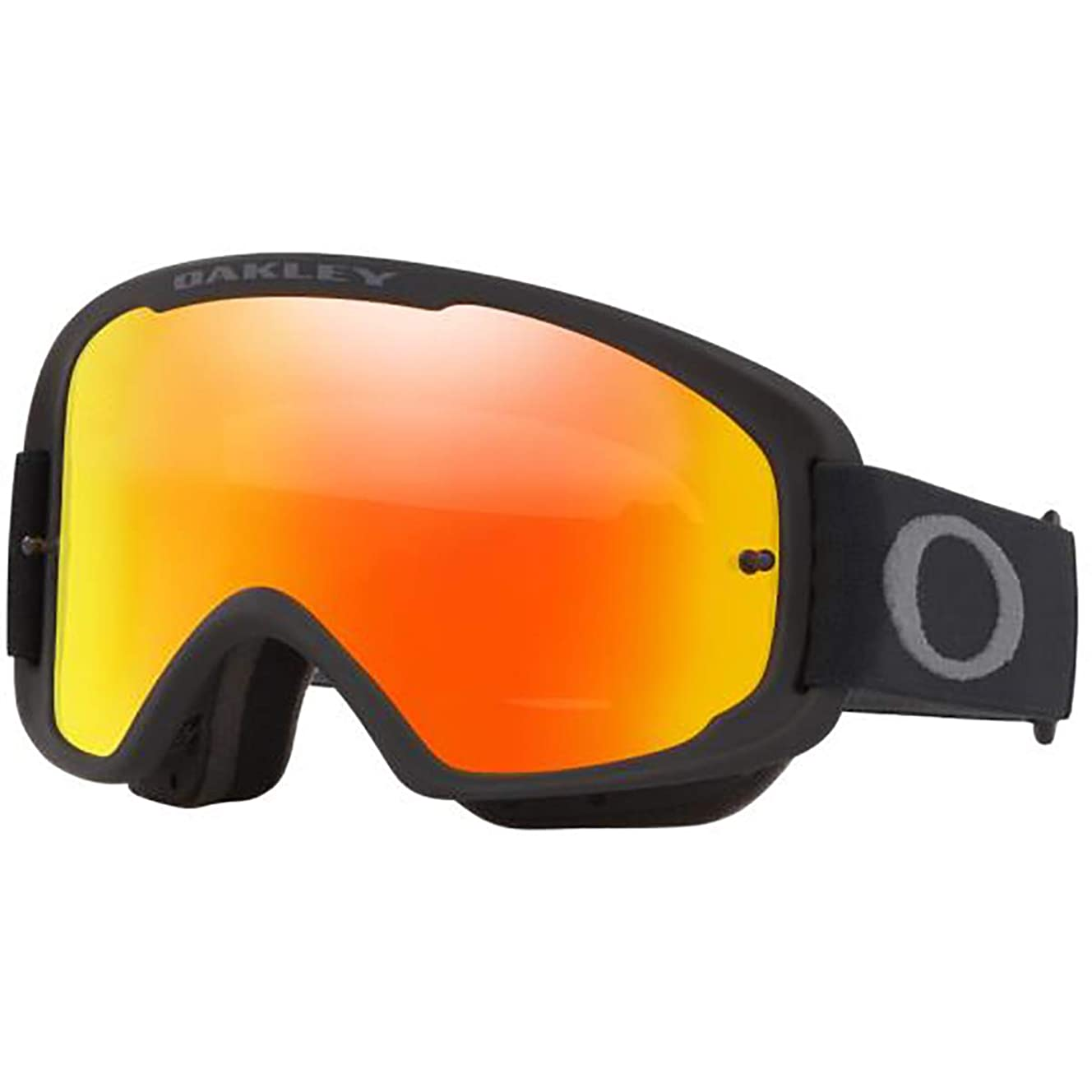 Oakley O-Frame 2.0 Men's MTB Off-Road Cycling Goggles - Matte Black/Fire Iridium & Clear/One Size