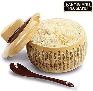 comprar comparacion Quesera parmesano reggiano en cerámica grande con cucharilla para 150 g de queso