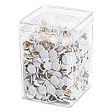 Wedo 9085675000 puntine, diametro 10 mm, confezione da 750 undurchdrückbar Überkapselt, colore: bianco