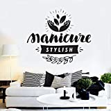 BFMBCH Beauté Salon De Coiffure Manucure Cosmétique Cils Motif Art Mural Vinyle Stickers Muraux Art Beauté Salon Fenêtre Décor Stickers Muraux A1 66x56 cm
