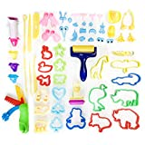 DOITEM Dough Tools, Set of 110 Pcs Smart Clay Dough Tools Cortadores Formas de Animales Moldes de expresión, Colores Surtidos