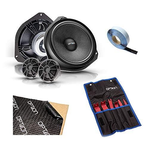 OPTION DUCATO AIR Lautsprecher-Komplettset kompatibel mit FIAT Ducato/Peugeot Boxer/Citroen Jumper (Typ 250) - 100% Plug & Play Lautsprechersystem inkl. Werkzeug und Alubutyl Dämmung