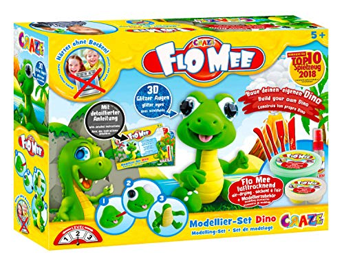 Craze 13687 Flo Mee Modellier Set Dino, bunt