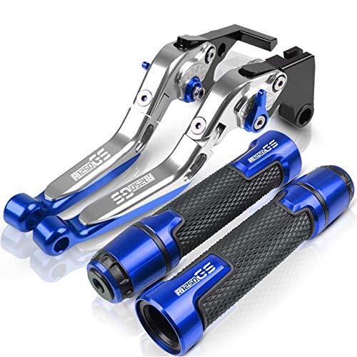 JIUTAI Motorradgriff Für BMW R1250GS R1250 R 1250 GS 1250GS 2019 2020 Motorradbremse Kupplungshebel & Lenker Grip Endet Motorradhebel Motorrad-Zubehör Griffe (Farbe : Blau)