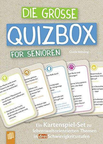 Die große Quizbox für Senioren: Ein Kartenspiel-Set zu lebensweltorientierten Themen in drei Schwierigkeitsstufen